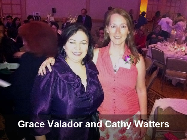 Grace Valador and Cathy Watters at the 2012 YWCA Women of Distinction Awards in Vancouver. (Photo)